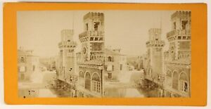 Venezia-Arsenal-Italia-Foto-Stereo-PL55L4n-Vintage-Albumina