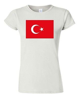 Junior Turkey Country Flag Ankara Istanbul State Nation Patriotic DT T-Shirt Tee