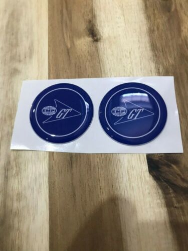BLUE EMPI GT Volkswagen wheel hub cap stickers EMPI GT Hub Cap Stickers