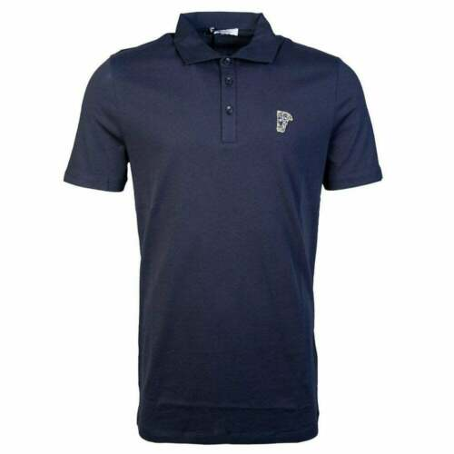 Versace Collection Cotton Navy Polo Shirt