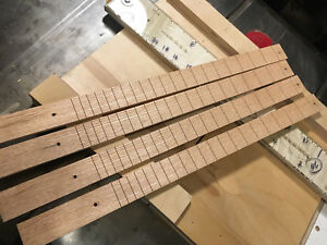 """Cherry Cigar Box Guitar fingerboard slotted 25/"""" scale"""