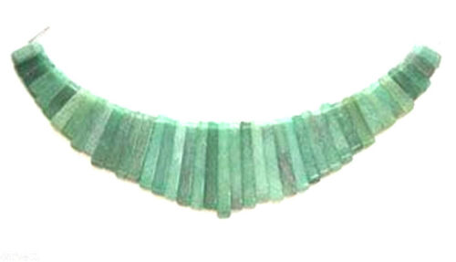 Cleopatra Egyptian Fan 41 pieces Green Aventurine Graduated Collar