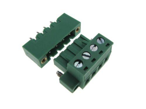 HQ 6-Pin 5.08mm Screw Terminal Block Plug Shrouded Flange Free Hanging