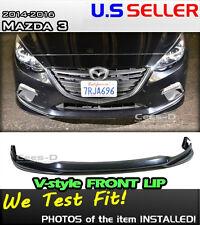 14 15 16 MAZDA3 MAZDA 3 SEDAN HATCH V_style Front Lip (ABS)