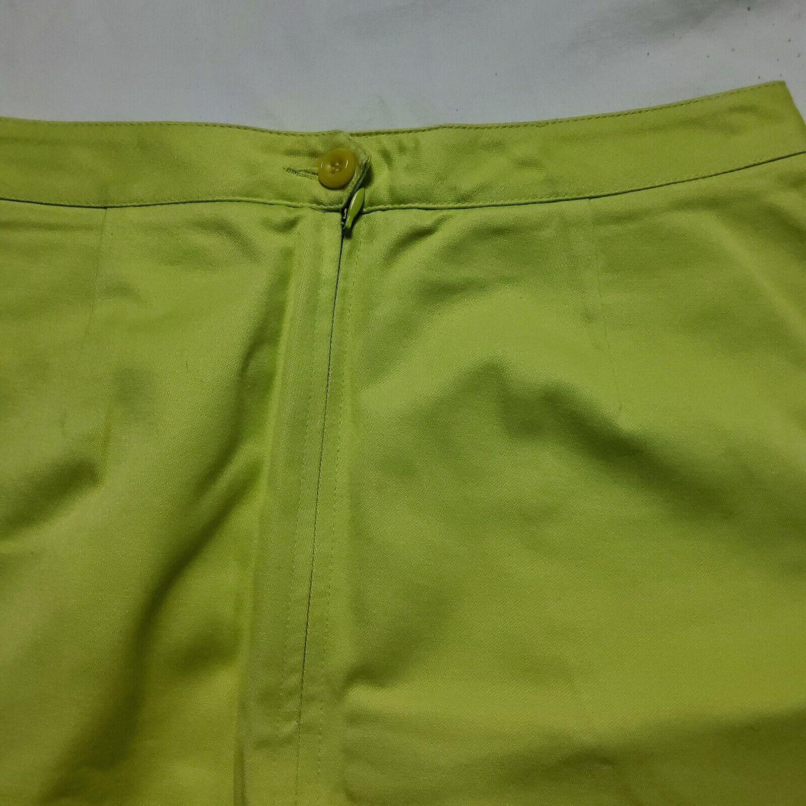 Esprit Neon Green Skirt - image 7