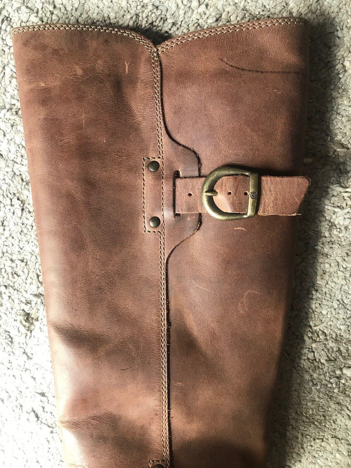 BORN Mercado Mercado Mercado Knee High Boot Light Brown Size 6 New in Box  200 15f340