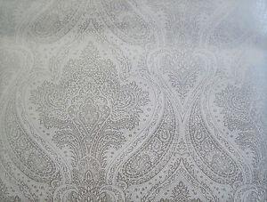 Barock tapete weiß silber  Barock Tapete silber creme weiß glänzend Ornament Klassic Rokoko ...