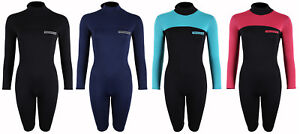 Image is loading Womens-Long-Sleeve-Shorty-Thunderclap-2-5mm-Wetsuit- edfd356c4