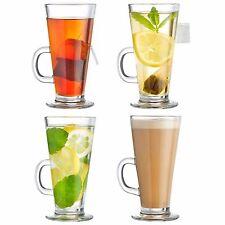 VonShef Set of 4 Tall Latte Glasses Mocha Cappuccino Coffee Hot Chocolate Mugs