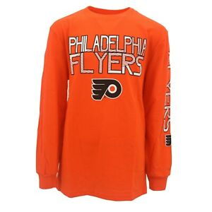 d5366193 Details about Philadelphia Flyers Official NHL Apparel Kids Youth Size Long  Sleeve Shirt New