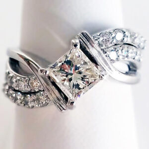 Fashion-White-Sapphire-Ring-Jewelry-925-Silver-Wedding-Rings-For-Women-Size-6-10