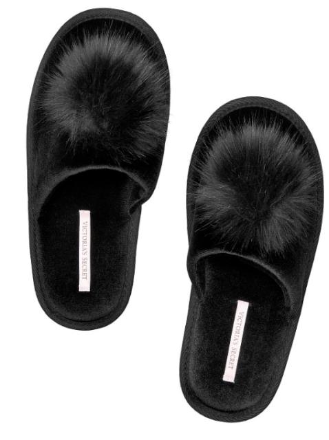 Secret Black with Pom Pom Slipper size