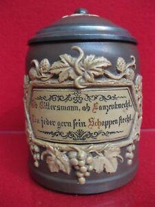 Mettlach-Villeroy-Boch-Krug-ca-1880-Historismus-Gruender-Bierkrug