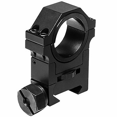 """NcSTAR 30mm Adjustable Height Tactical Weaver Rail Mount Ring w/ 1"""" Insert RAH24"""