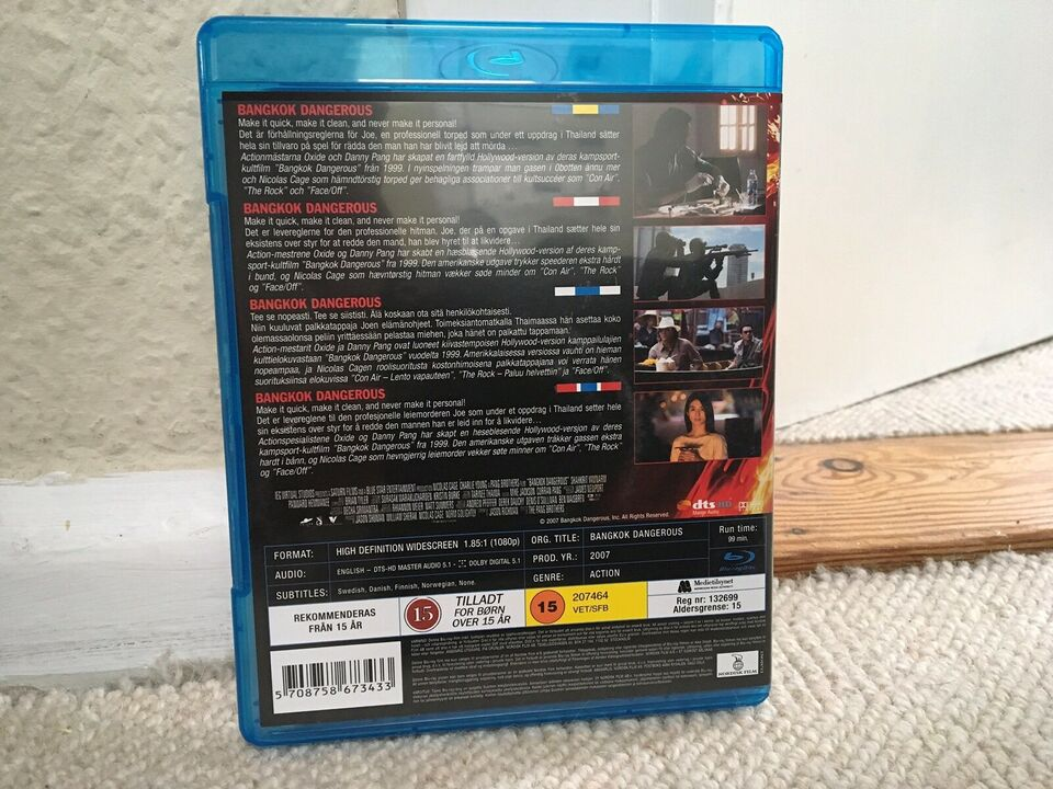 BANGKOK DANGEROUS, instruktør THE PANG BROTHERS, Blu-ray