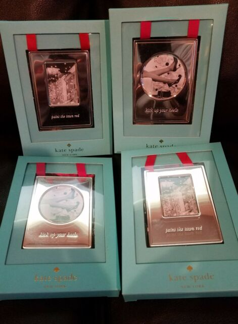 Kate Spade New York Lenox Picture Frame Ornaments Silver Lot Of 4 Ebay