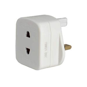 blanc 50 x 48 x 46 mm Masterplug Rasoir Électrique Adaptateur