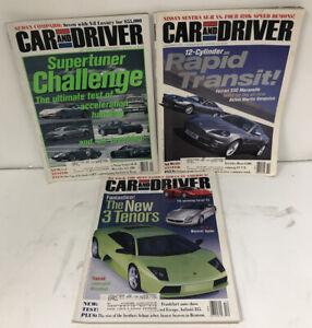 Lot 3 2001 August Car and Driver Magazine September November December