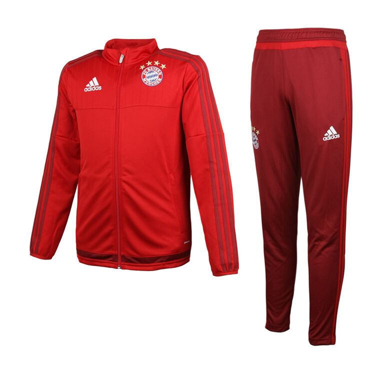 Adidas Youth FC Bayern Munchen Training Suit S27280 Jersey Top Pants Gym Junior