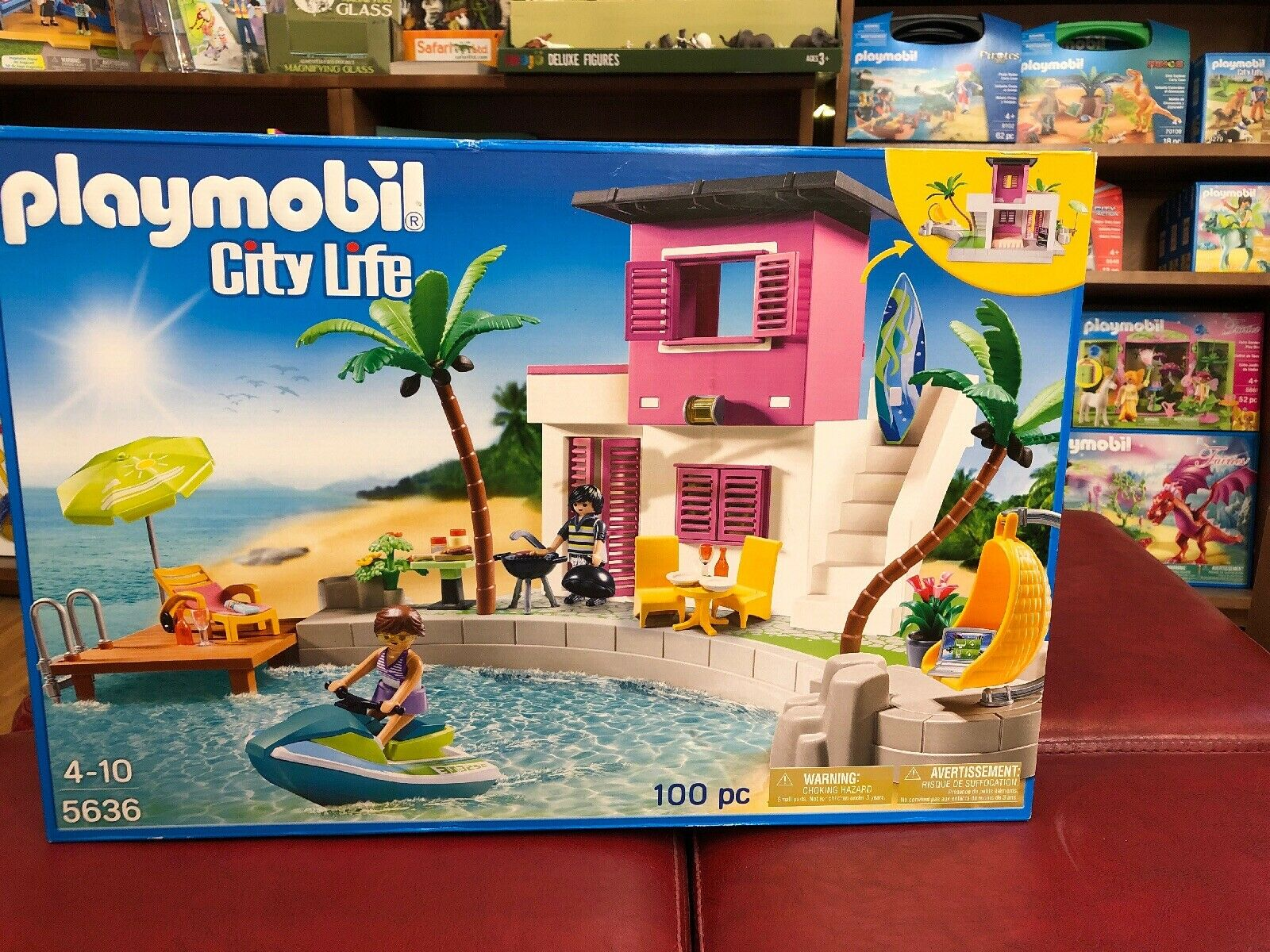 Playmobil Stadt Life luxury beach haus 5636 retirot 100 Pc Playset Unopened