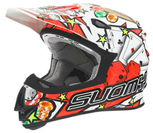Suomy MX Jump Jackpot White Helmet