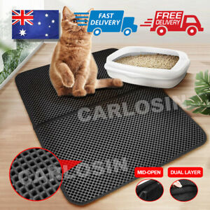 Waterproof-Double-Layer-Cat-Litter-Mat-Trapper-Foldable-Pad-Pet-Rug-Home-L-Size