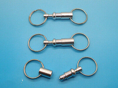 3x Removable Detachable Handy Key Holder Split Ring Keyfob Keyring Keychain New