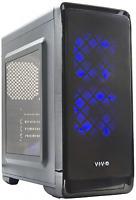 Vivo smart Micro-atx Tower Computer Gaming Pc Case Black / 5 Fan Mounts, Usb 3