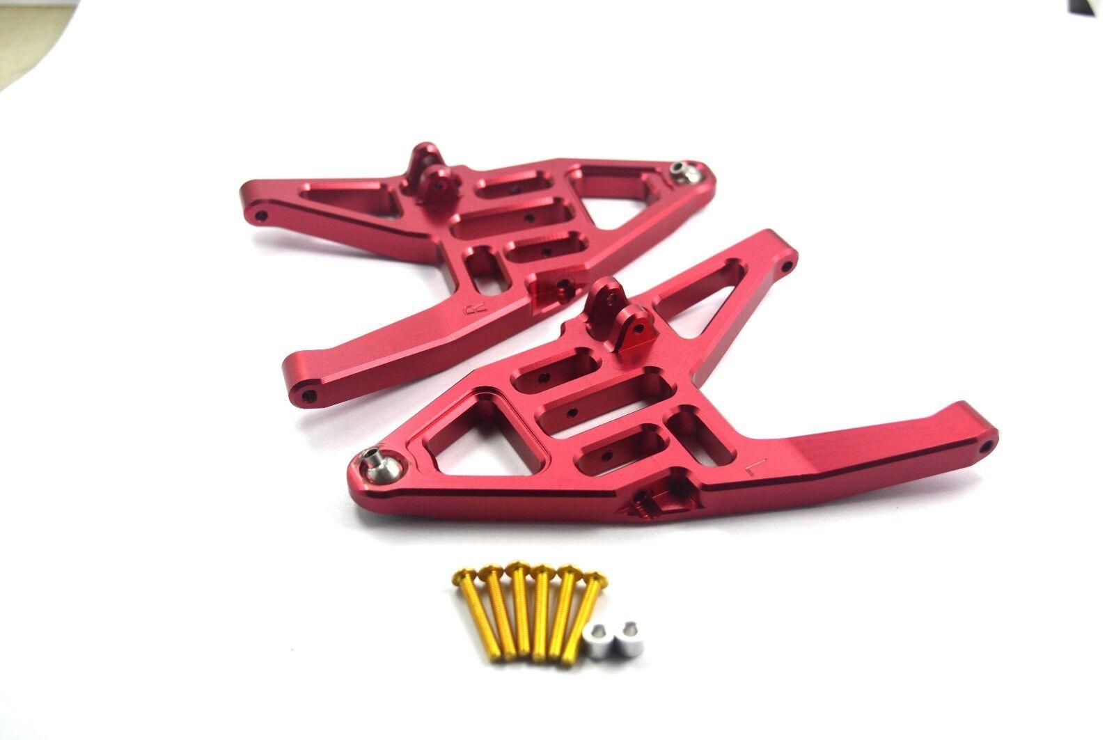 CNC Aluminum davanti Lower Arms L&R  rosso For Traxxas Unlimited Desert Racer (UDR)  marchi di stilisti economici