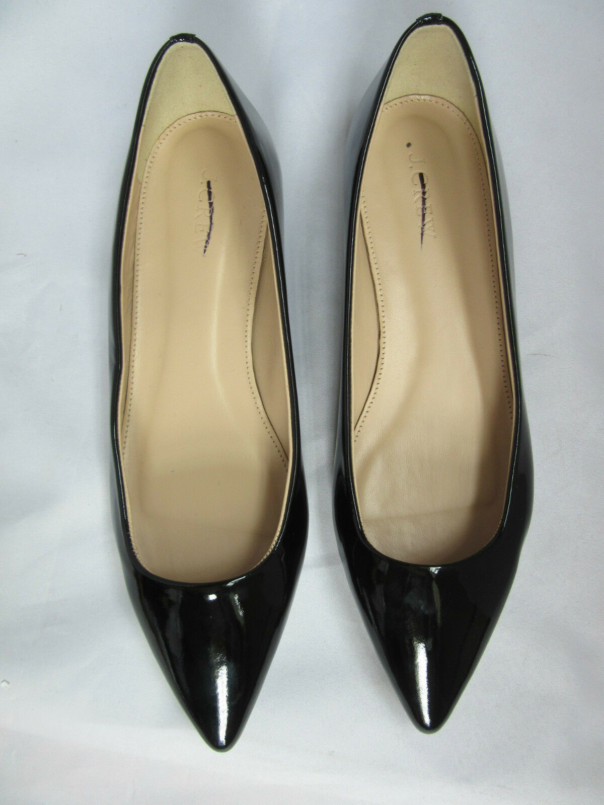J Crew Harper nero Patent Leather Flats Dimensione 6.5  138  Style B1791 NWOB