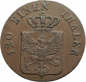 1842-GERMAN-STATES-Prussia-King-Wilhelm-IV-Genuine-Antique-3-Pence-Coin-i76902