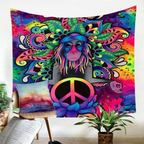 Hippie Tapestry Mandala Wall Hanging Psychedelic Abstract Bedspread Home Decor