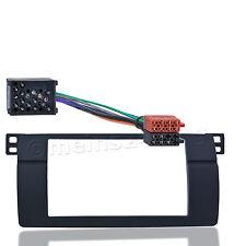Bmw 3er e46 radio diafragma doble 2 din instalación marco adaptador cable alrededor de contacto