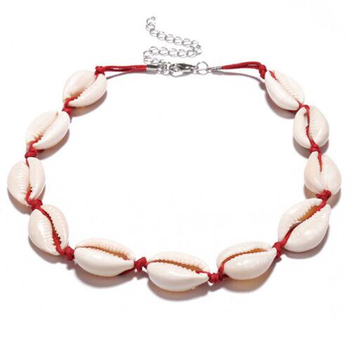 Bohemian Sea Shell Conch Pendant Necklace Collar Choker Beach Charm JewelFB