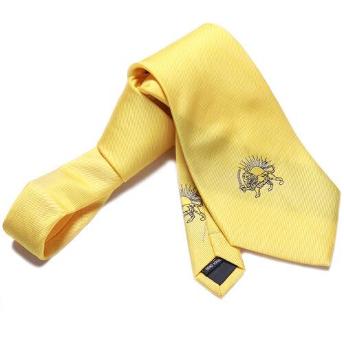 Persian Shir Khorshid Pahlavi Kingdom Lion Sun Neck Tie Persia Farvahar Art Gift