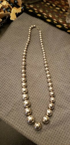 old pawn sterling ball necklace
