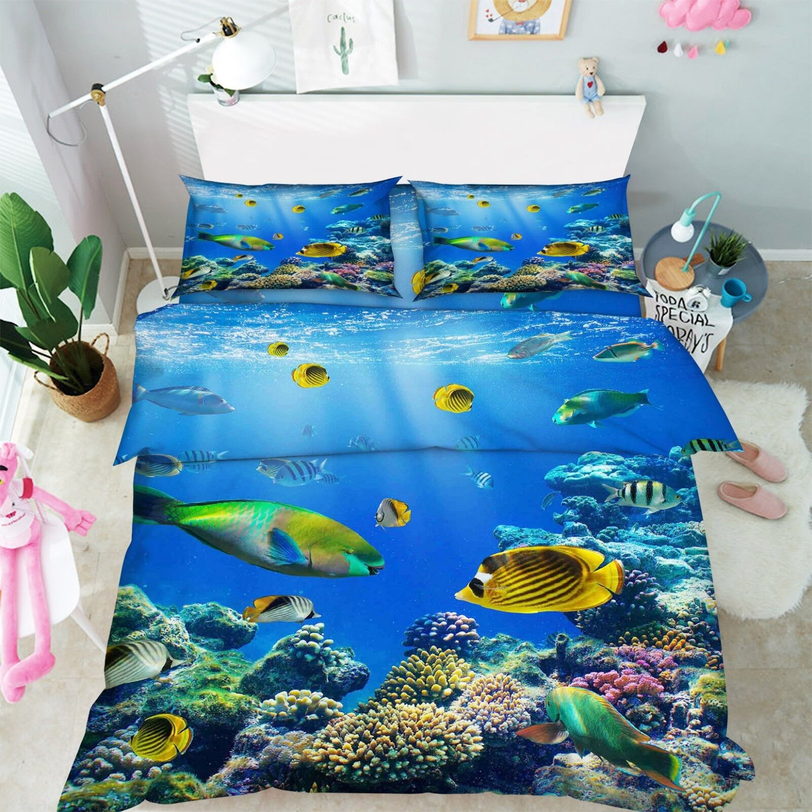 3D Fish Naturally 79 Bed Pillowcases Quilt Duvet Cover Set Single Queen King CA