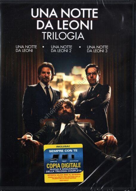 UNA NOTTE DA LEONI LA TRILOGIA - BOX 3 DVD NUOVO!