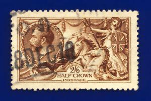 1915-SG405-2s6d-Deep-Yellow-Brown-De-La-Rue-N64-5-Good-Used-Cat-250-dasf