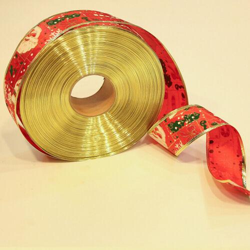 Organza Christmas Ribbons Handmade Diy Gift Wrapping Decor Ornament BS