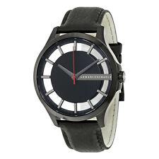 Armani Exchange Men's AX2180 Black Dial Black Leather Watch