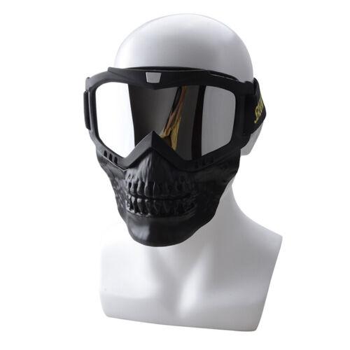 Motorcycle Face Skull Goggles Off Road Motocross ATV Dirt Bike Eyewear Ski Cover