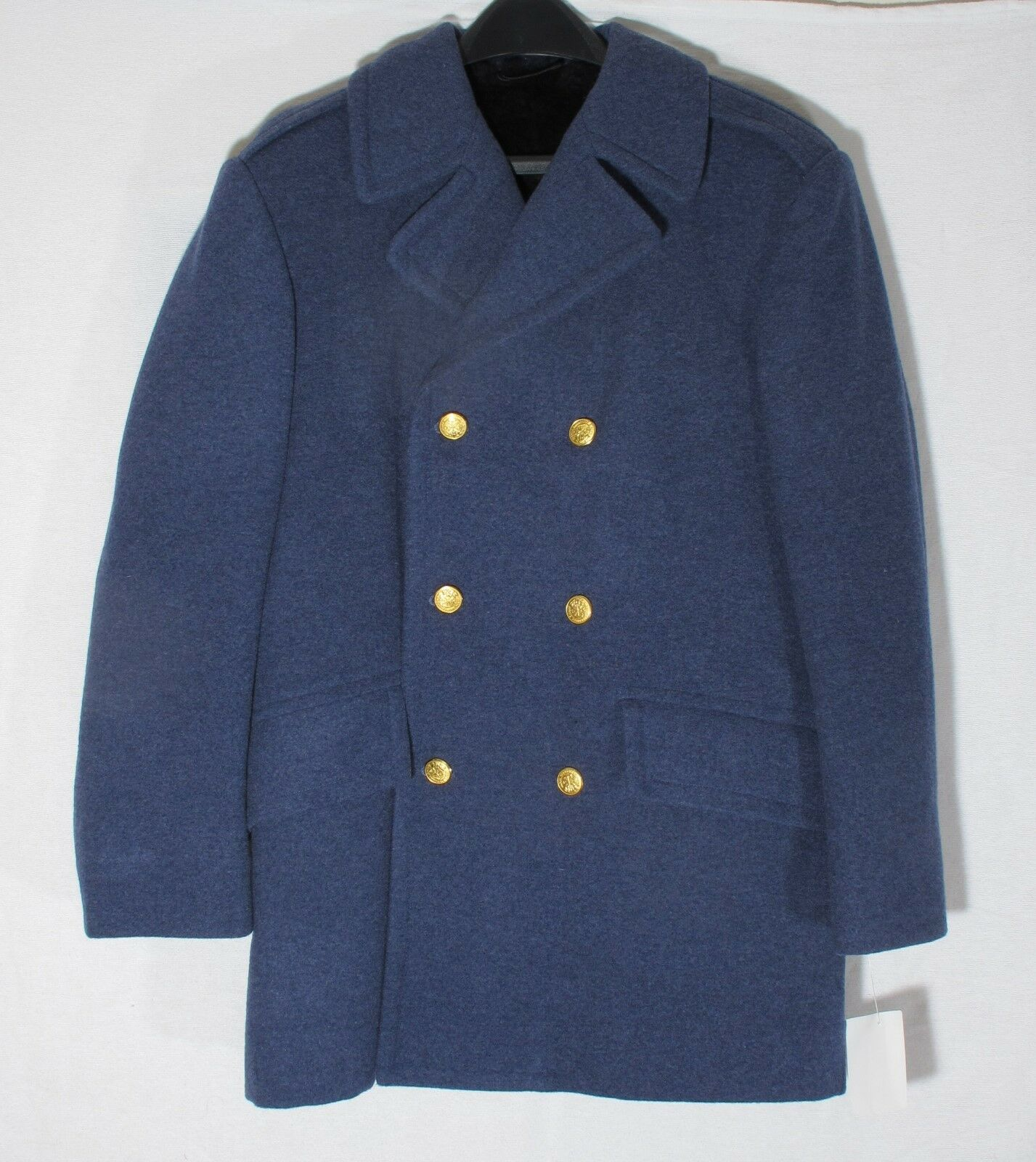 Heavy Wool US Issue Reefer Coat Weintraub, Waterbury Buttons, Pea Coat Citadel