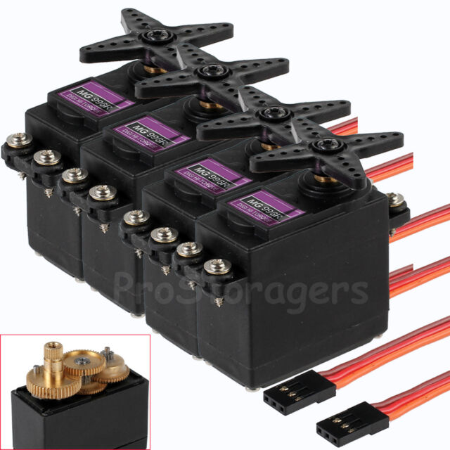 4Pcs MG996R Digital Metal Gear Servo High Torque Upgraded MG995 MG945 RC Model Y