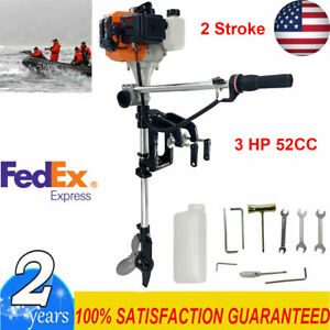 2 Stroke 3hp Outboard Motor Boat Motor 52cc Boat Engine W Air Cooling System Us 710731886681 Ebay