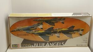 1978-Revell-Model-Kit-US-Navy-Blue-Angels-Complete-Team-4-planes-in-Cello-New
