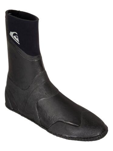 2015 NWT MEN/'S QUIKSILVER  NEO GOO 5MM ROUND TOE BOOTS $75 black wetsuit