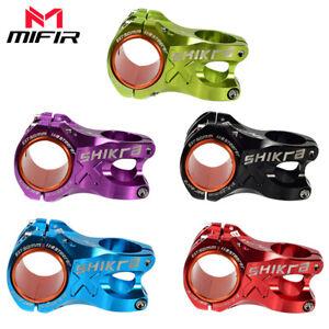 0° KRSEC Alu 31.8*50mm MTB XC FR DH Bike Flat Short Stem+Headsets Top Cap set