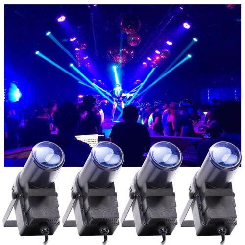 4PCS Mini Spot Beam RGB Stage Lighting DMX RGBW LED Disco DJ Party Lights