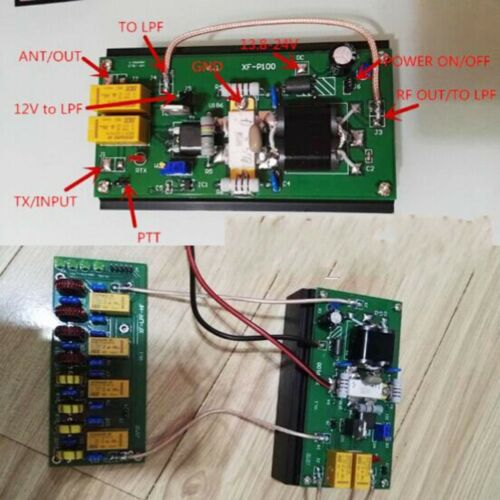 100W 3.5Mhz-30Mhz LPF For FT-817 IC-703 KX3 Ham Radio 90W HF Power Amplifier